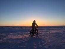 fatbike-sunset-winter-nome
